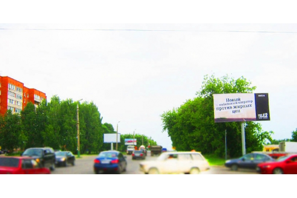 Рекламный щит улица Аустрина База Октябрьская, сторона А