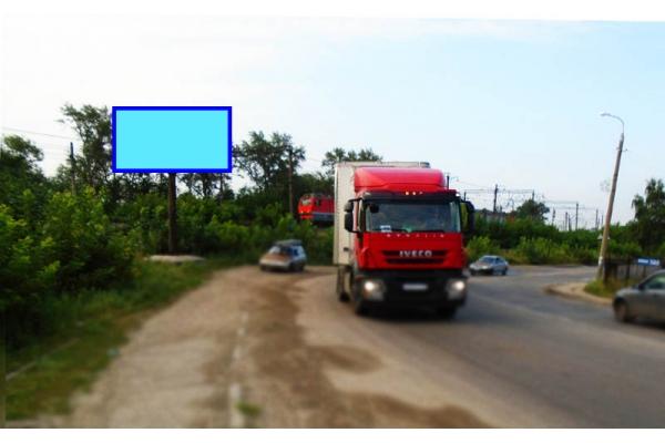 Рекламный щит улица Кустанайская ЖД переезд, сторона Б