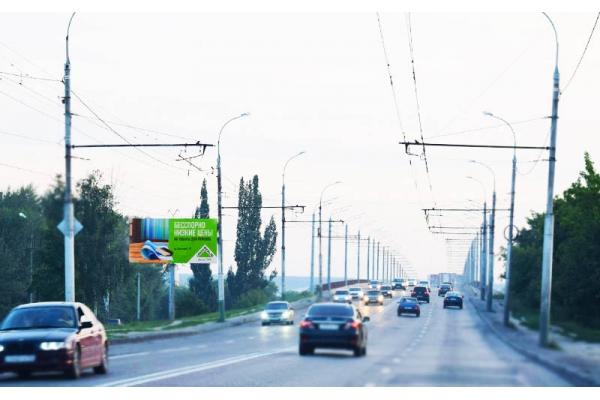 Рекламный щит улица Чаадаева 10 мост, сторона Б