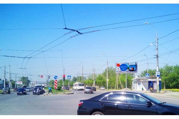 Рекламный щит улица Чаадаева 53а остановка Долгорукова, сторона А