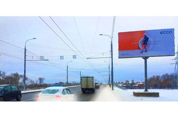 Рекламный щит улица Баумана путепровод, сторона А