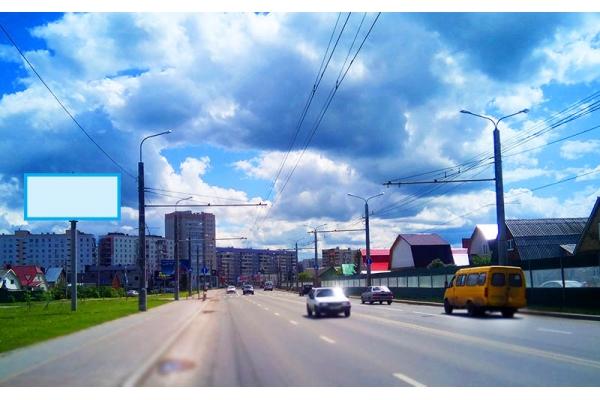 Рекламный щит улица Терновского 120, сторона Б