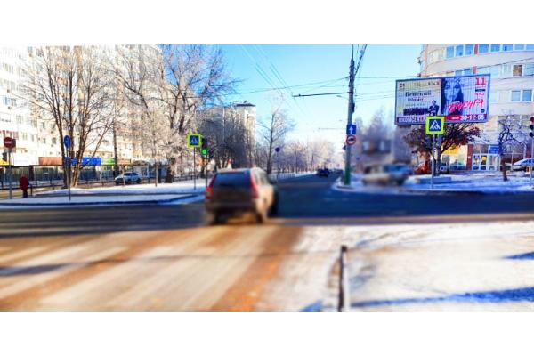 Рекламный щит улица Пушкина Ставского призматрон, сторона А