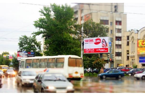Рекламный щит улица Суворова Кирова Чехова призматрон