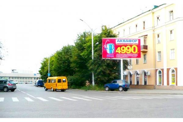 Рекламный щит Октябрьская улица 4 Пенза 1 (правая), сторона А