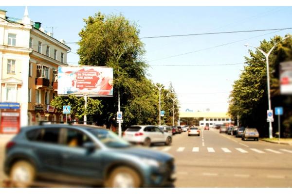 Рекламный щит Октябрьская улица 6, сторона А