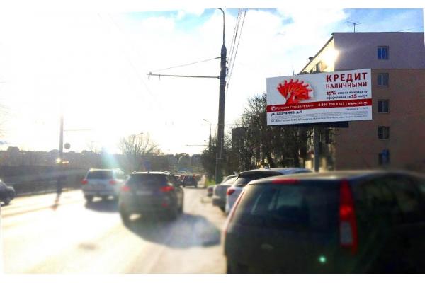 Рекламный щит Суворова улица суд, сторона А