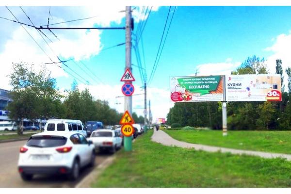 Рекламный щит проспект Строителей улица Стасова СК Буртасы, сторона А