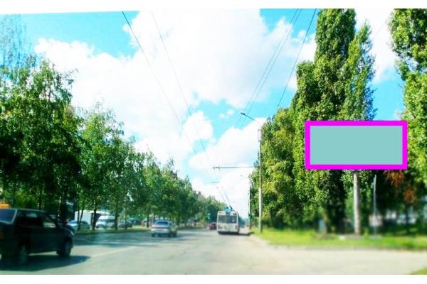 Рекламный щит проспект Строителей дом 4 улица Бородина, сторона А