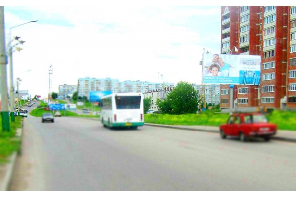 Рекламный щит проспект Строителей 81, сторона А
