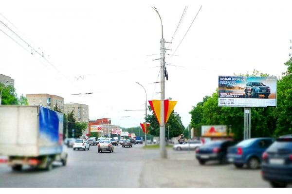 Рекламный щит Победы проспект 124 сторона А