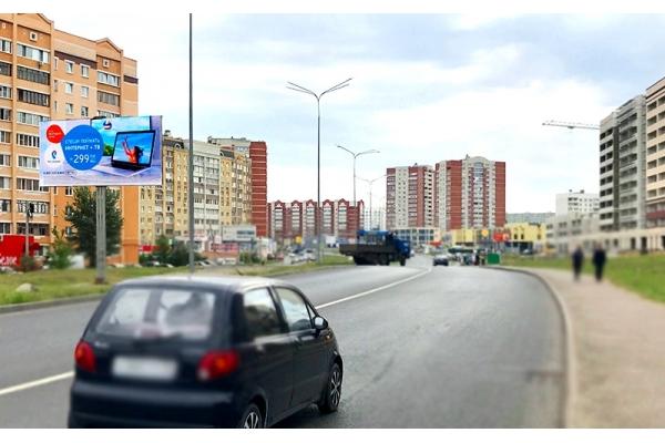 Рекламный щит Строителей проспект ЭкоКвартал сторона Б