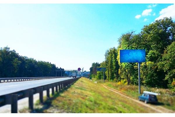 Рекламный щит трасса Москва Самара Монтажный сторона А