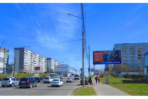Рекламный щит проспект Строителей 148б Кагау, сторона А