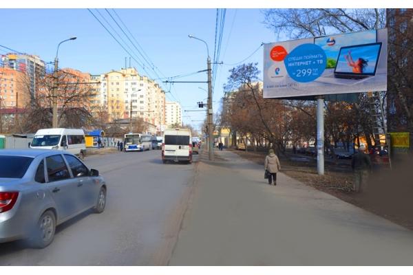 Рекламный щит улица Калинина 74, сторона А
