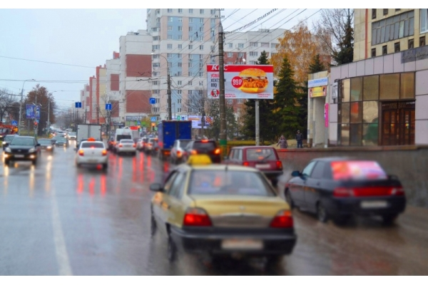 Рекламный щит улица Пушкина Кулакова, сторона А