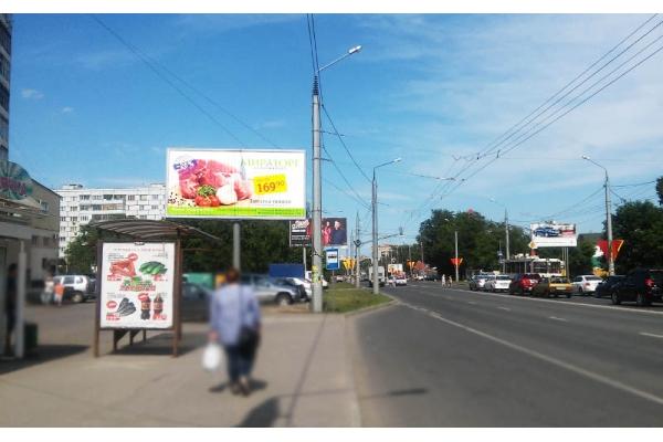 Рекламный щит улица Карпинского ТЦ Метро призматрон, сторона Б
